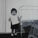 Enfant d'autrefois Huile sur toile 11 x 14 po. Vendue