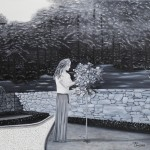 La jardinière - Huile sur toile - 24 x 30 po - Disponible