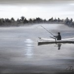 À l'aube - Huile sur toile - 12 x 16 po - Vendue