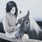 Mon ami - Huile sur toile - 20 x 28 - Vendue
