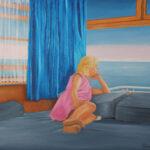 La mer de mes rêves Huile sur toile 24 X 30 pouces Disponible