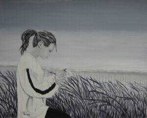 Message de la Mer - Huile sur toile - 24 x 30 po.- Disponible